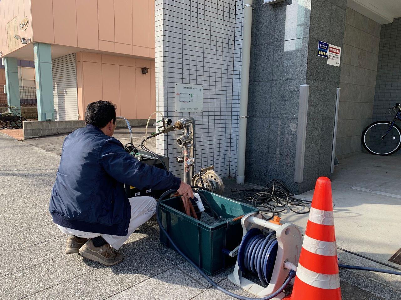 連結送水管 耐圧試験